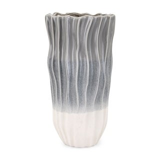 Lauren Grey and White Large Vase