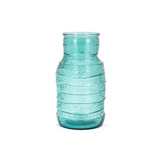 Martinique Teal Small Recycled Glass Vase