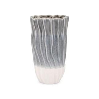 Lauren Grey and White Small Vase