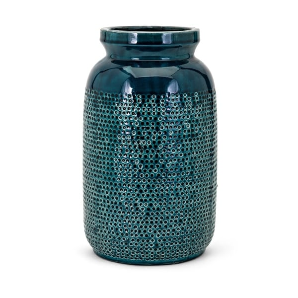 Shop Hollie Dark Teal Large Vase On Sale Free Shipping Today