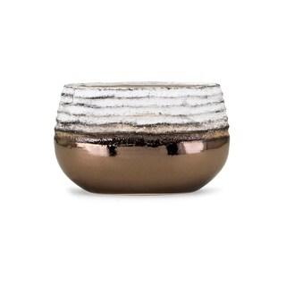 Naeem White and Bronze Small Vase