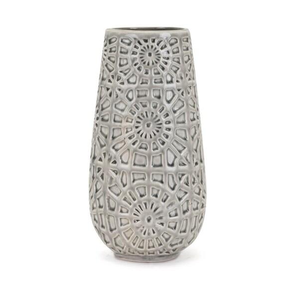 York Grey Medium Vase
