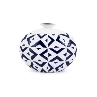 Gwenyth Blue and White Small Vase