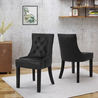 Hayden Traditional Microfiber Dining Chairs (Set of 2) by Christopher Knight Home