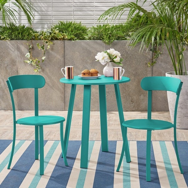 Barbados Outdoor Bistro Set by Christopher Knight Home. Opens flyout.