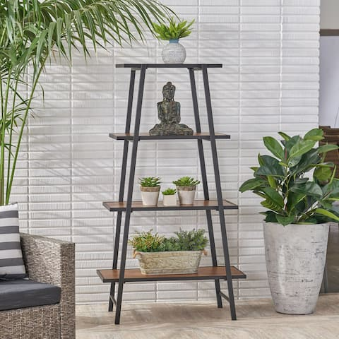 Clanton Outdoor Industrial 3-Tier Shelf by Christopher Knight Home