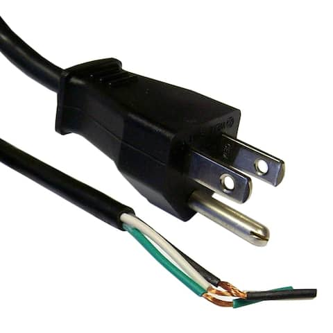 Offex NEMA 5-15P to Standard ROJ Power Cord, Black, 18/3 (18AWG 3 Conductor) SVT, 10 Amp / 125 Volt, 6 foot