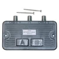 Offex F-pin Coaxial Push Button Switch, 2 Way, 75/75 Ohm