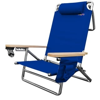 Aluminum 5 Position Deluxe Lay-Flat Chair with Dry Pouch