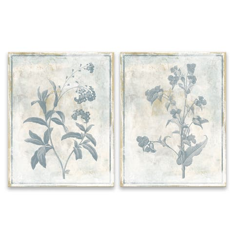 """""""Sky Floral"""" Printed Canvas - Set of 2, 11W x 14H x 1.25D each"""