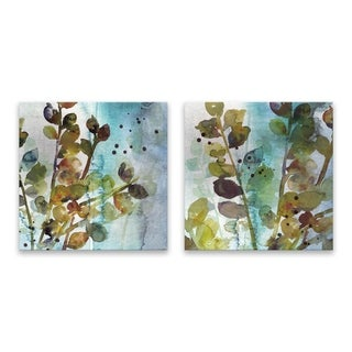 """Within I & II"" Hand Embellished Canvas - Set of 2, 14W x 14H x 1.25D each"