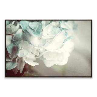 """Mint Hydrangea"" Framed Printed Canvas - 35.875W x 23.875H x 2D - Multi-color"