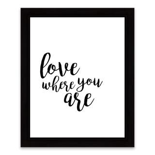"""""""Love Where You Are"""" Framed Printed Canvas - 13.25W x 16.25H x 1.25D - Multi-color"""