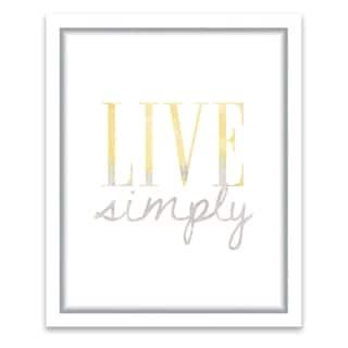 """""""Live Simply"""" Framed Printed Canvas - 13.25W x 16.25H x 1.25D - Multi-color"""