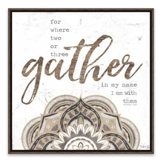 """""""Gather"""" Framed Printed Canvas - 18.25W x 18.25H x 1.25D - Multi-color"""