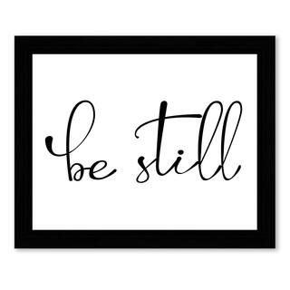 """""""Be Still"""" Framed Printed Canvas - 16.25W x 13.25H x 1.25D - Multi-color"""