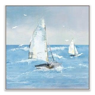"""White Sails II"" Framed Printed Canvas - 27.875W x 27.875H x 2D"
