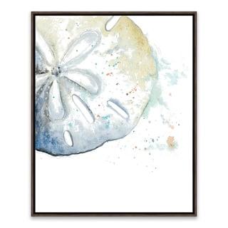 """Sand Dollar"" Framed Printed Canvas - 16.875W x 20.875H x 2D"