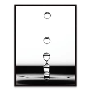 """""""Drops II"""" Framed Printed Canvas - 18.875W x 24.875H x 2D - Multi-color"""