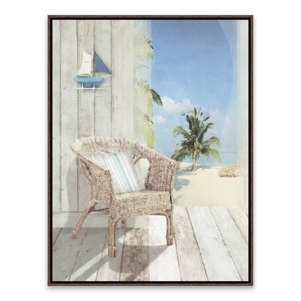 """""""Cool View III"""" Framed Printed Canvas - 16.875W x 20.875H x 2D - Multi-color"""