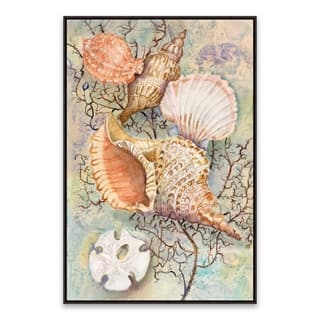 """""""Jewels of the Sea"""" Framed Printed Canvas - 16.875W x 20.875H x 2D - Multi-color"""