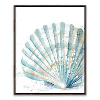 """""""Clam Shell"""" Framed Printed Canvas - 16.875W x 20.875H x 2D - Multi-color"""