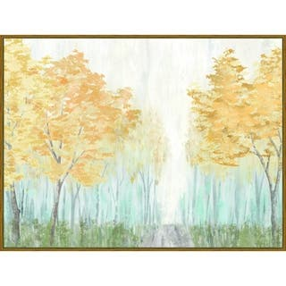 """""""In the Forest"""" Framed Hand Embellished Canvas - 32.875W x 24.875H x 2D - Multi-color"""