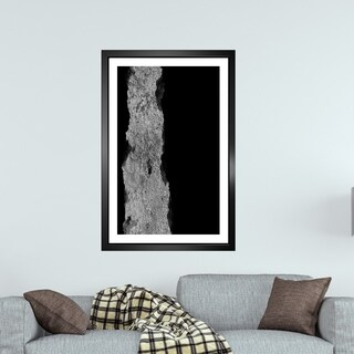 "Divine Touch ""Be A Sponge"" Abstract Contemporary Framed Wall Art Black"