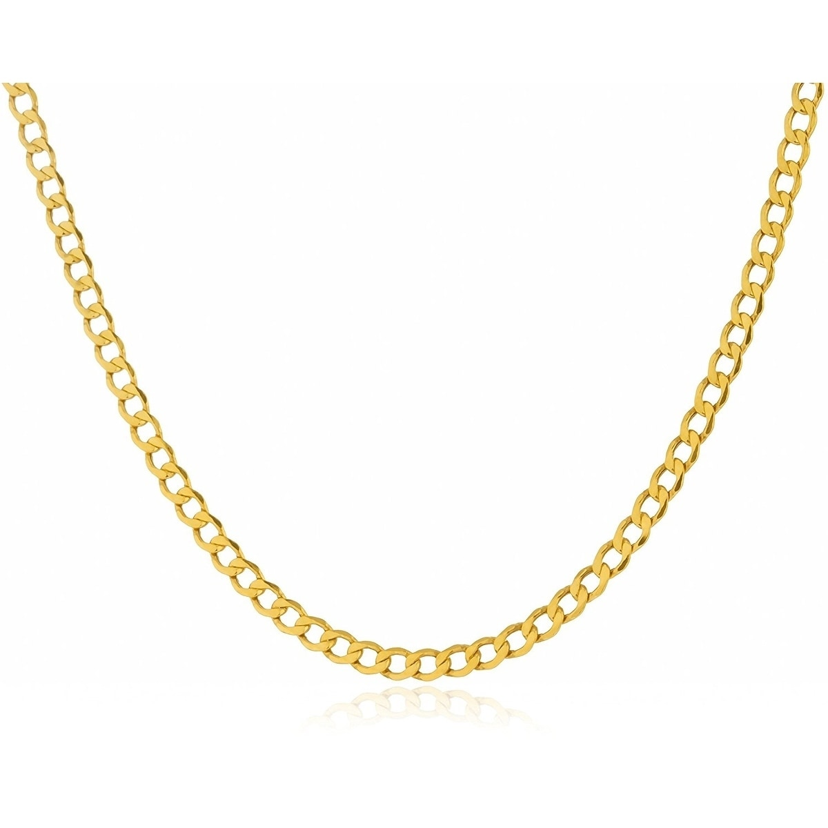 32880adc10a08 3.3MM Cuban Curb Link Chain Necklace in 14K Solid Gold BOXED