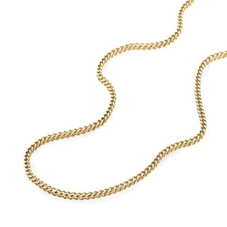10K Gold 2MM franco Chain Necklace BOXED