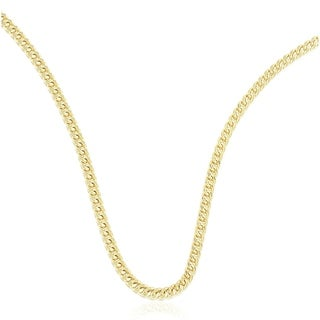 10K Gold 3MM franco Chain Necklace BOXED
