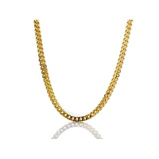 10K Gold 4MM franco Chain Necklace BOXED