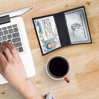 AFONiE RFID Slim Design Leather Card Case