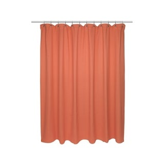 "American Crafts Chevron Weave Cotton Shower Curtain in Burnt Coral - 72"" Wide X 84"" Long"