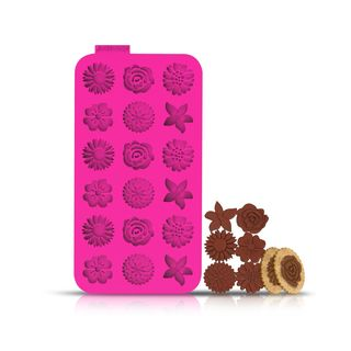 INNOKA 16-Cavity/18-Cavity Non Stick BPA-Free Flowers/ Hearts Silicone Chocolate, Jelly, Gummy and Pastry Molds/ Molding Trays