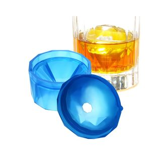 INNOKA Blue [Large] Diamond Shape BPA-Free Silicone Ice Cube Trays Ice Maker for Chilling Bourbon Whiskey, Cocktail, Beverages