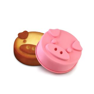 INNOKA Non-stick Piggy Pig Shape 100% BPA-Free Silicone Cake Mold Chocolate Moulds Cookie Candy Ice Tray (3 Sizes Available)