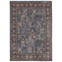 Chahar Blue Synthetic Oriental Area Rug - 7'10 x 9'10