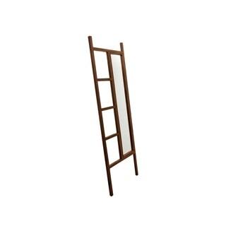 "BrandtWorks Rustic Style Carrington Walnut Decorative Leaning Mirror Ladder - 23.25"" x 72"""