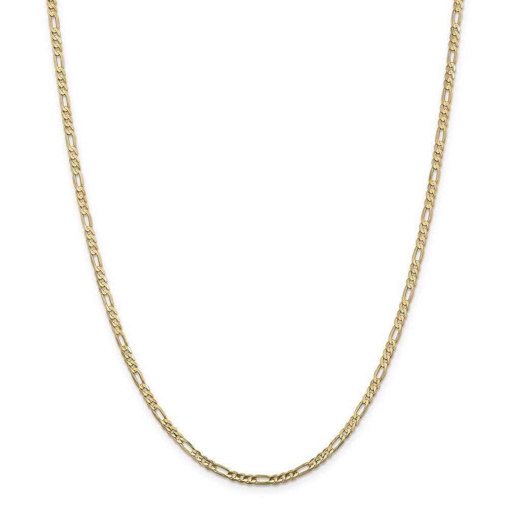 Versil 10 Karat Gold 3mm Figaro Chain Bracelet