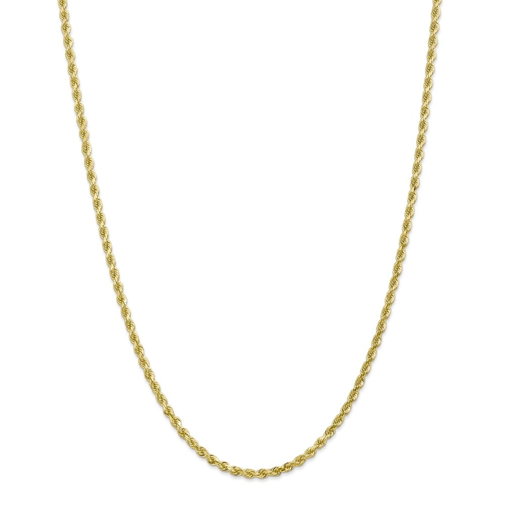Versil 10 Karat Gold 3mm Diamond-cut Rope Chain Bracelet