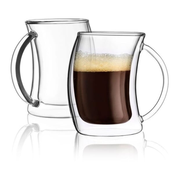 JoyJolt Caleo Double Wall Insulated Glasses, 5.4 Ounce Set of 2 Espresso Cups. Opens flyout.