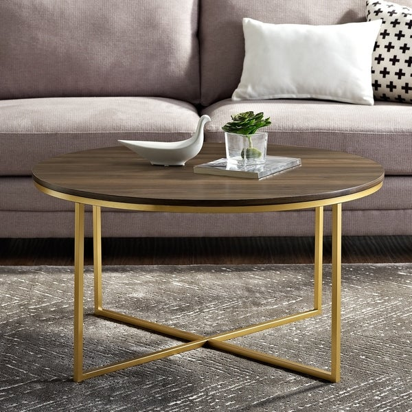 """Shop 36"""" Round Coffee Table With X-Base"""