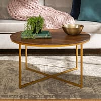 """36"""" Round Coffee Table with X-Base - 36 x 36 x 19h"""