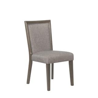 Powell Travers Grey/Espresso Fabric/Acacia Wood Side Chair