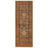 Handmade Herat Oriental Afghan Hand-knotted Tribal Kazak Wool Runner (2'2 x 5'10)