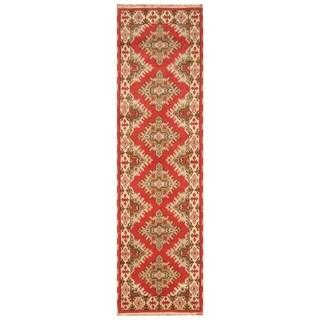 Handmade One-of-a-Kind Kazak Wool Runner (India) - 2'9 x 9'10