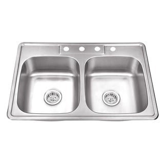 Cahaba Heavy Duty 50/50 Stainless Steel Kitchen Sink
