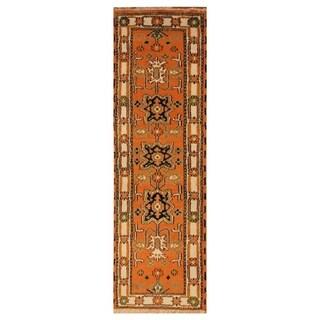 Handmade One-of-a-Kind Kazak Wool Runner (India) - 2'1 x 6'10