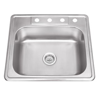 Drop-In 25 in. Single Bowl Stainless Steel Kitchen Sink